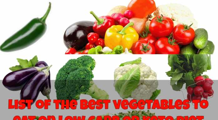 List of the best vegetables to eat on low carb or keto diet
