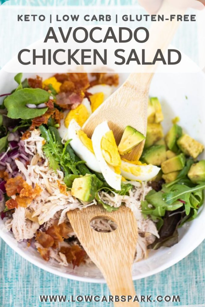 This easy keto chicken salad with avocado and bacon is full of flavor and very satisfying. It's made with wholesome ingredients that are very nutritious, easy to make, and loaded with healthy fats and fiber.