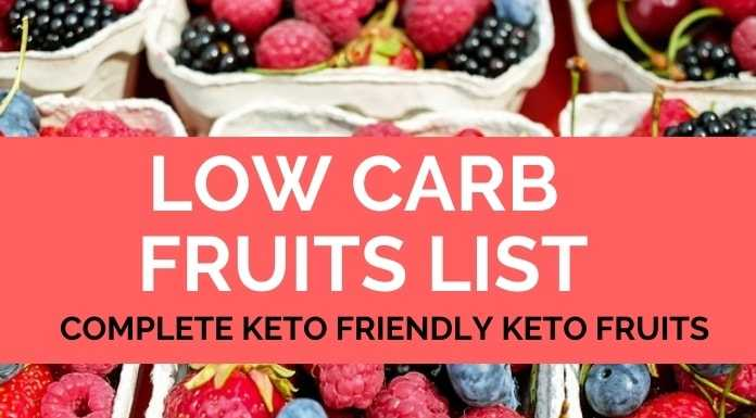 low carb fruits keto fruits list allowed