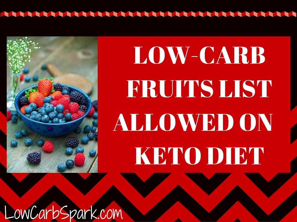 low carb fruits and vegetables fruit names