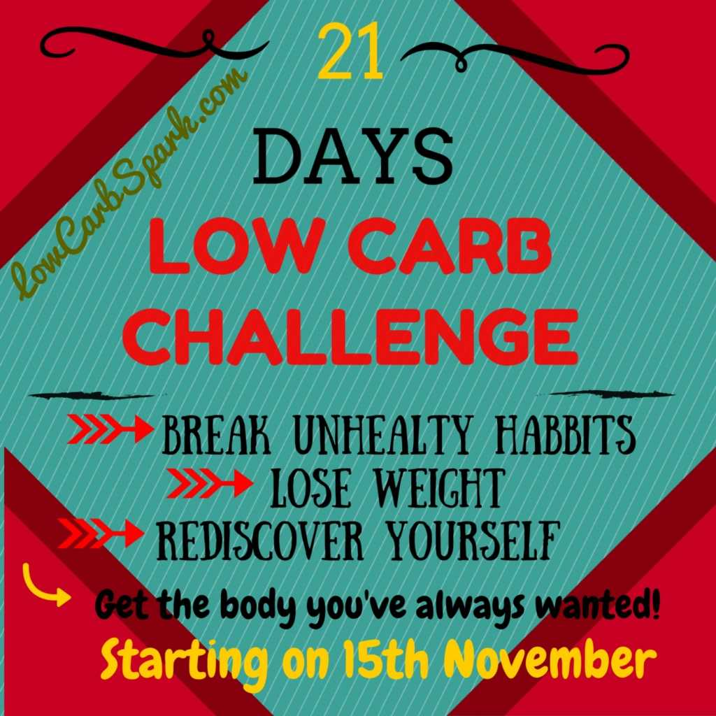 21 days LOW CARB CHALLENGE