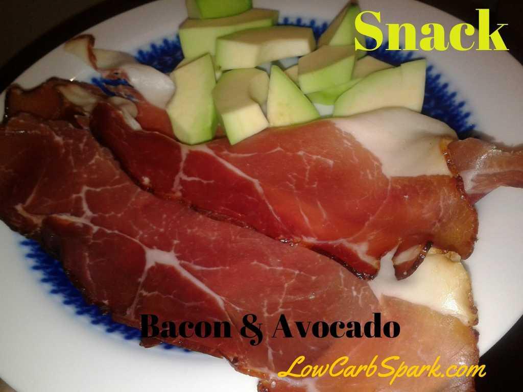 Low carb snack bacon avocado