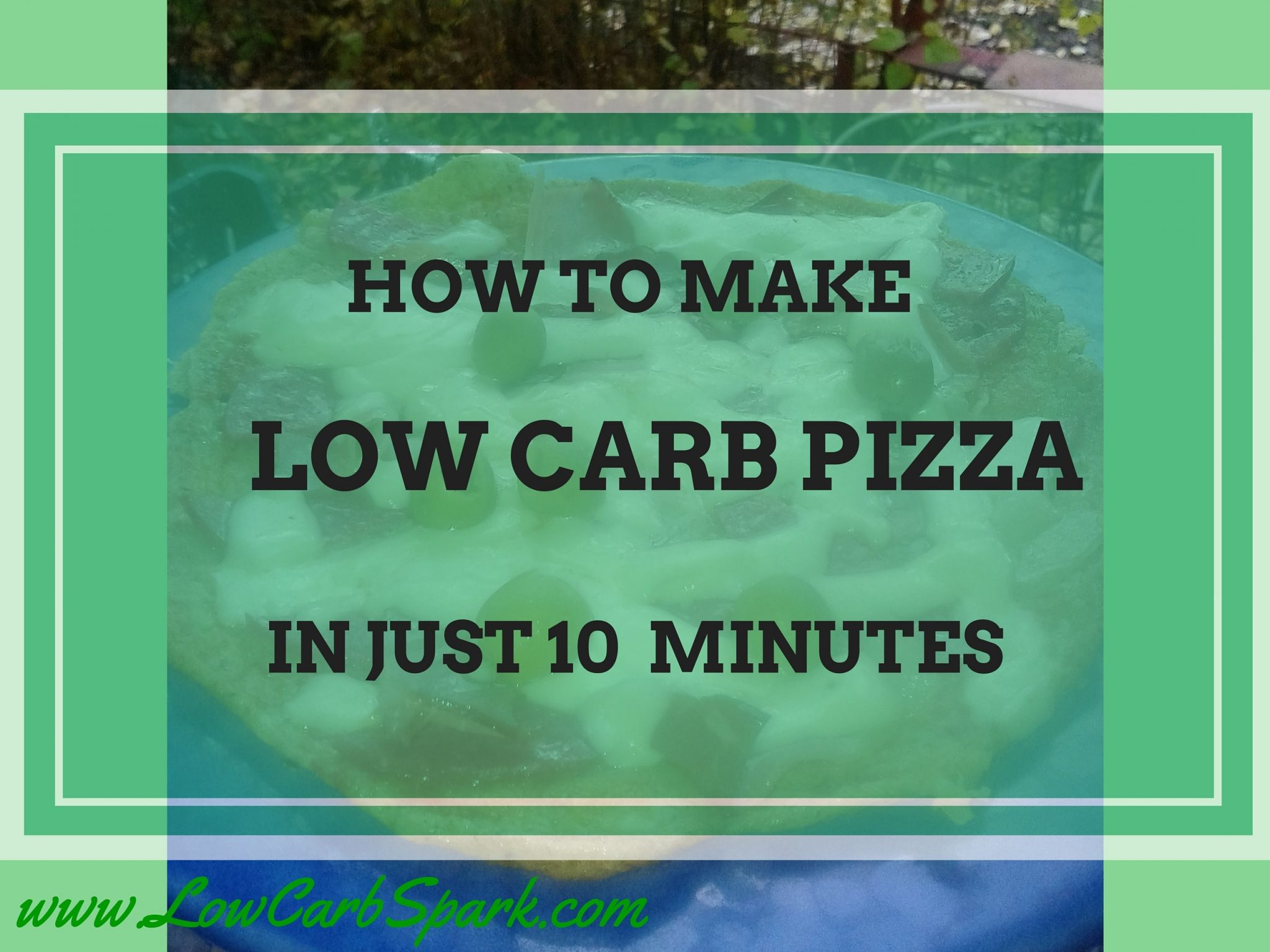 How to make low carb skillet pizza in just 10 minutes?