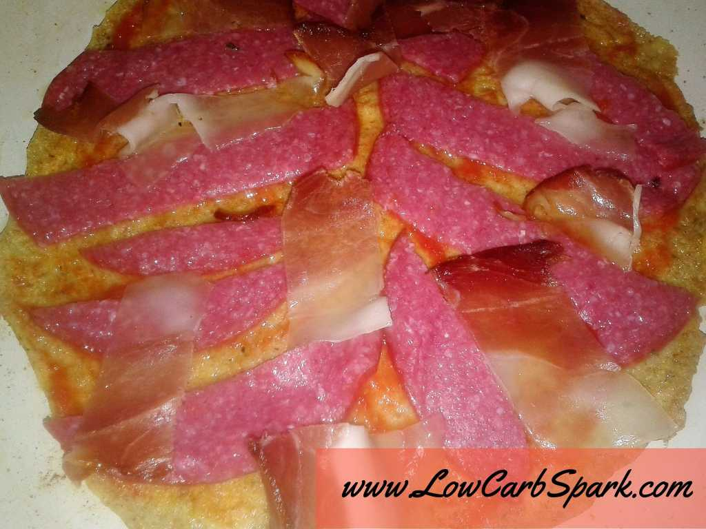 low carb pizza top