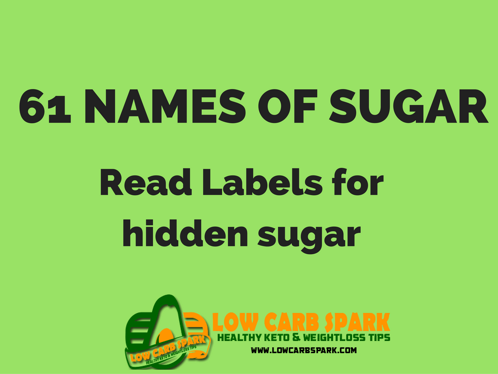 The 61 names of sugar – Read the food labels for hidden sugar