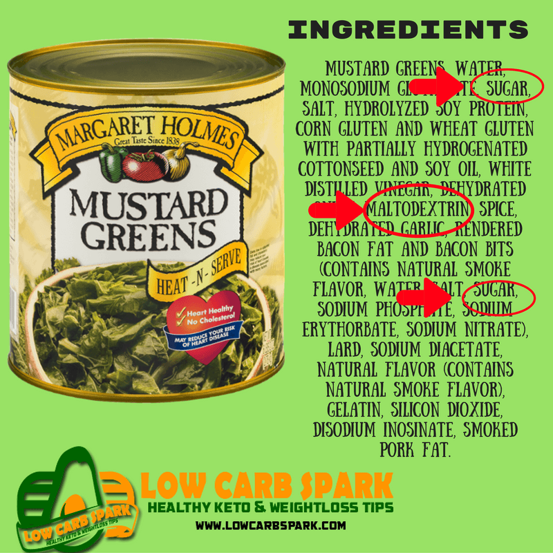 sugar in canned vegetables hidden low carb sugar