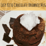Super Easy Keto Chocolate Brownie Mug Cake