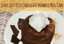 Super Easy Keto Chocolate Brownie Mug Cake