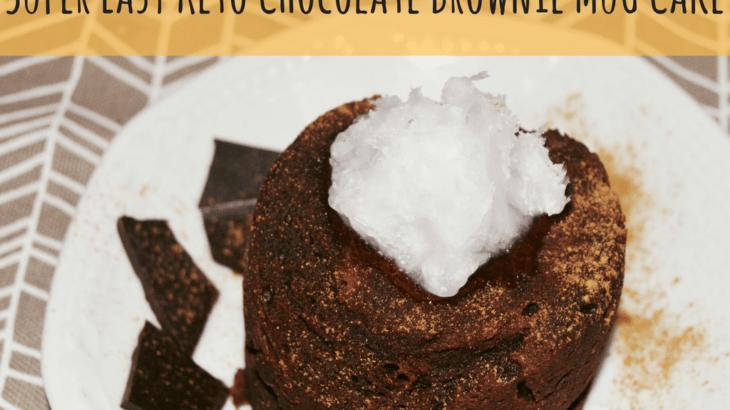 Super Easy Keto Chocolate Mug Cake