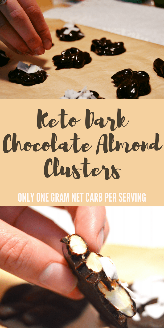 keto almond cluster low carb snack one gram net carbs