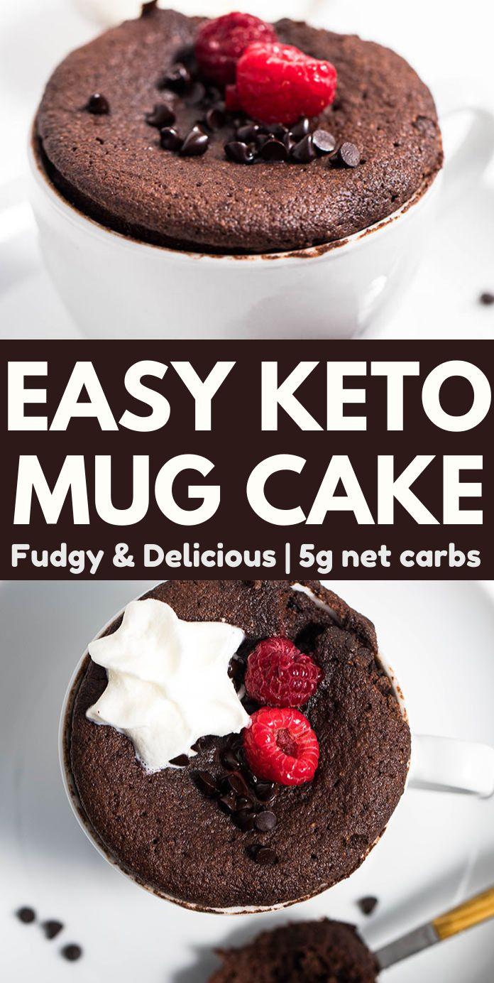 Super Easy Keto Chocolate Mug Cake with Coconut Flour
