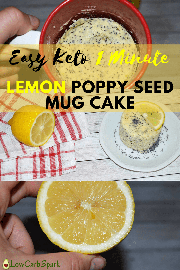 This keto lemon mug cake is the best summer dessert, super moist and citrusy!  It\'s is extremely fluffy and easy to make. Enjoy this single-serving sugar-free dessert that is gluten-free, grain-free and heavenly fresh!