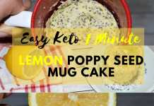 Easy Keto lemon poppy seed 1 Minute keto mug cake social