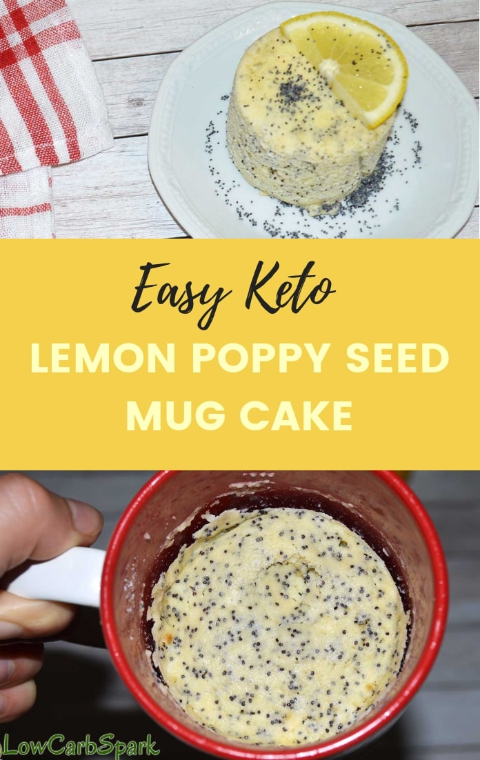 Learn how to make a keto mug cake in one minute with coconut flour