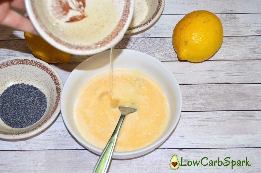 easy lemon poppy seeds keto mug cake add eggs low carb spark