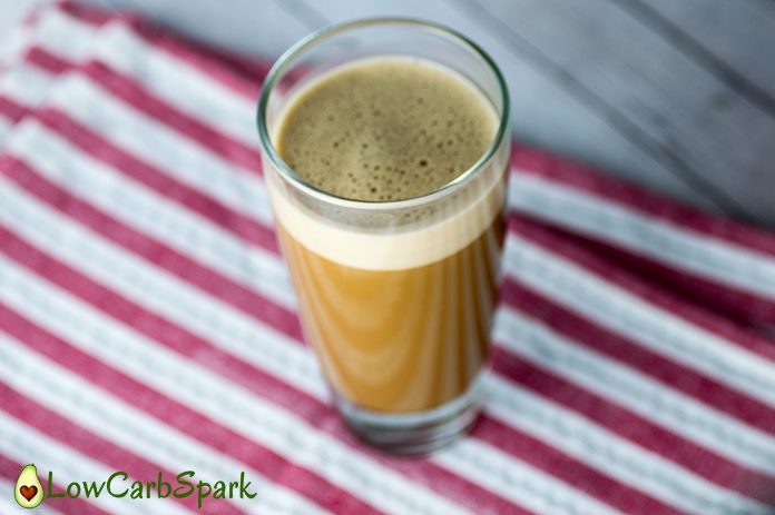 keto coffee frothy and delicous