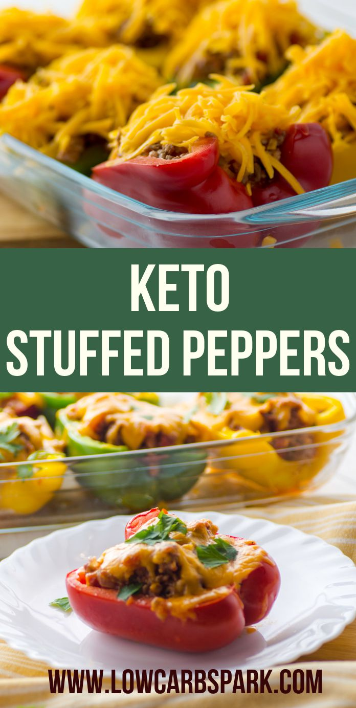 These keto stuffed peppers are extremely flavorful, easy to make and taste just like lasagna. This is a healthy recipe loved by all the family members. The best way to eat your veggies, protein, and healthy fats. This recipe is low carb so we don\'t need any rice to make the filling. Recipe via @lowcarbspark