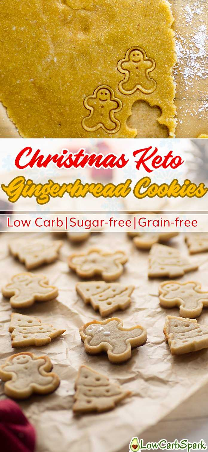 Christmas Keto Gingerbread Cookies - Low Carb, Sugar-free ...