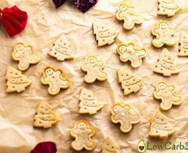 Christmas Keto Gingerbread Cookies – Low Carb, Sugar-free & Grain-free