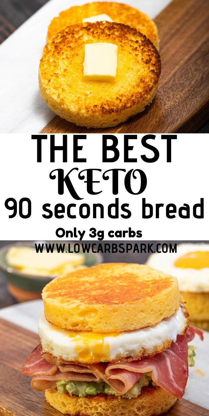 90 Second Keto Bread Low Carb Bread In A Mug Low Carb Spark
