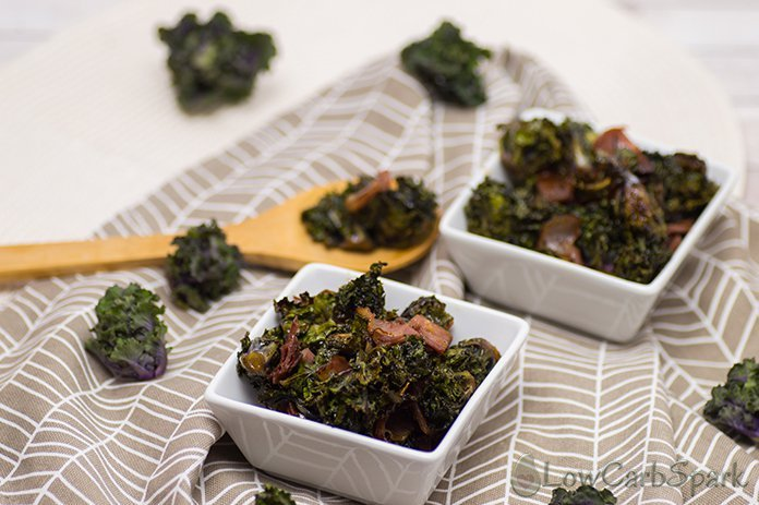 KEto Kale sprouts with bacon low carb meal