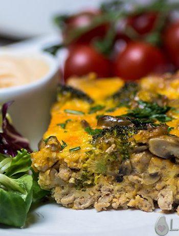 Keto Veggie-Loaded Breakfast Casserole – 4g Carbs