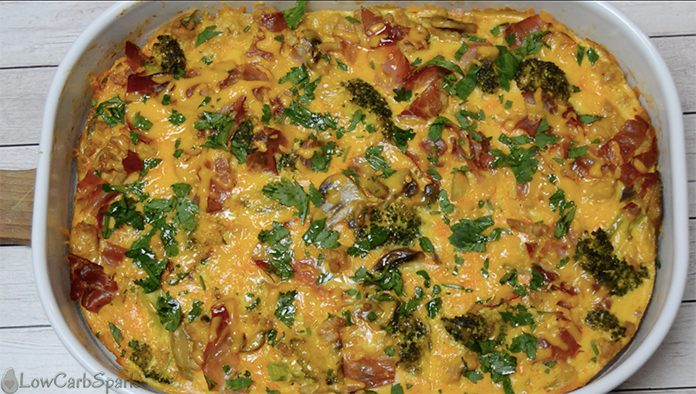 Keto Veggie-Loaded Breakfast Casserole final