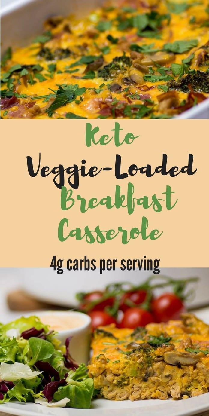 keto breakfast casserole pinterest low carb spark