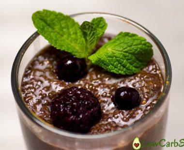 Simple Chocolate Keto Chia Seed Pudding