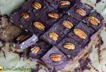 keto easy to make pecan chocolate fudge
