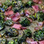 keto kale sprouts with bacon oven roasted keto lunch