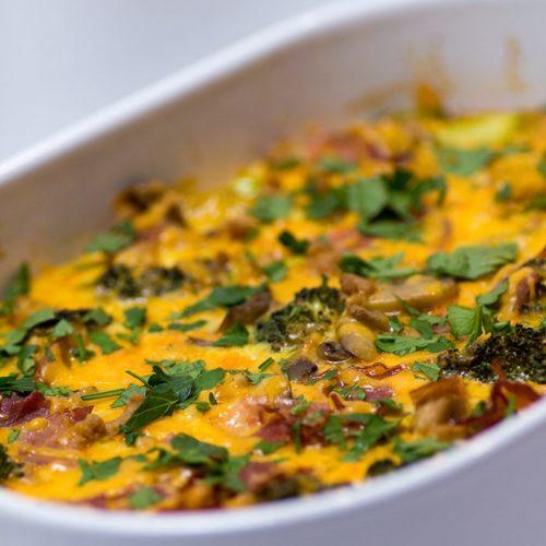 low carb keto Veggie-Loaded Breakfast Casserole