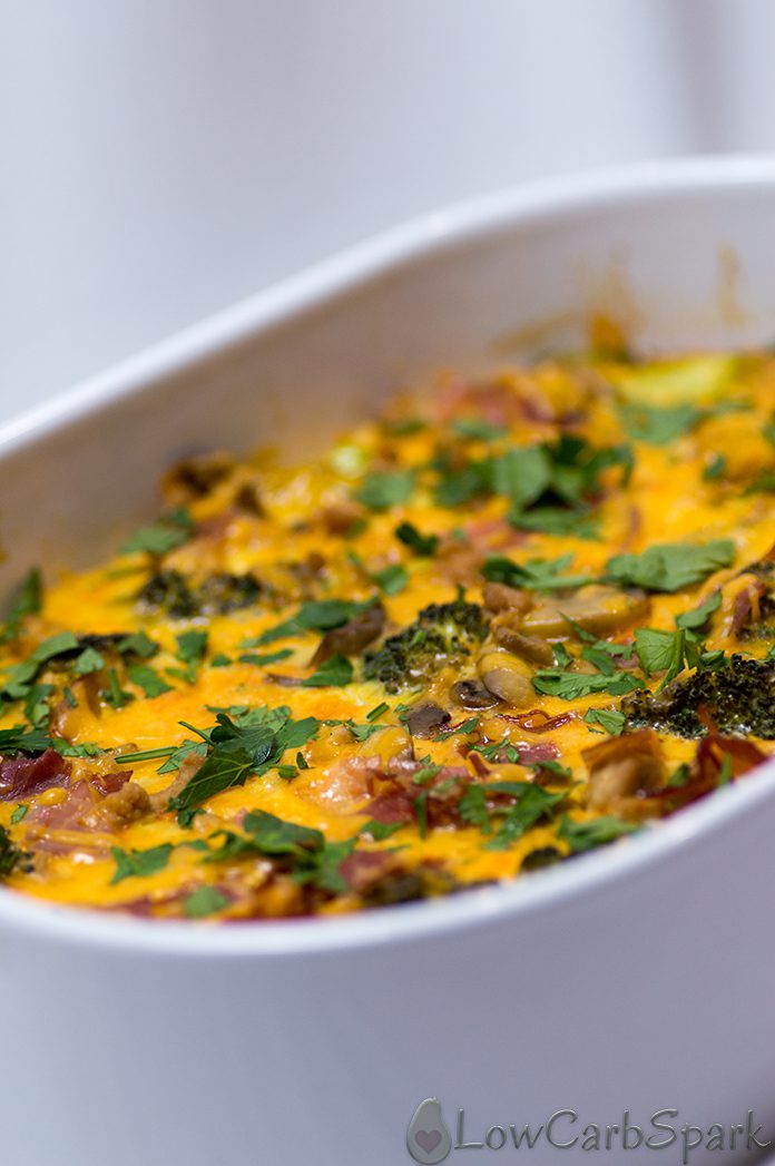 low carb keto Veggie-Loaded Breakfast Casserole
