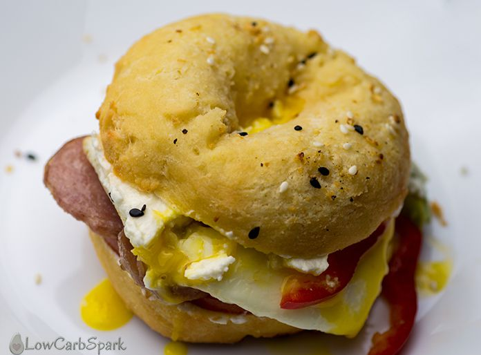 keto bagel low carb breakfast bread replacement sandwich