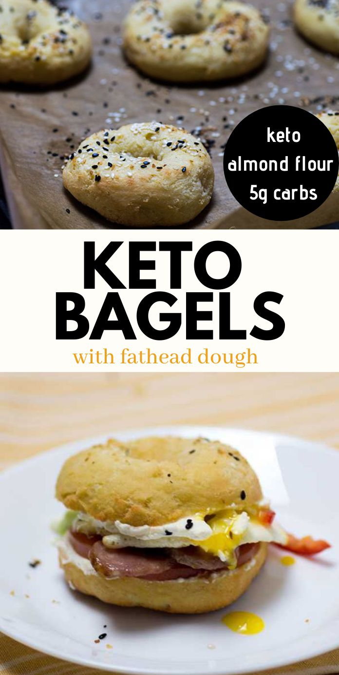 The Best Keto Bagels with Almond Flour