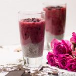 keto raspberry chia pudding valentines day