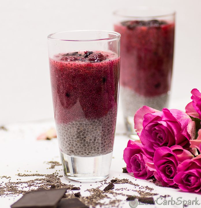 Easy Keto Raspberry Vanilla Chia Pudding – Low Carb Breakfast