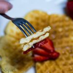 texture of the keto waffles low carb made with coconut flour and cream cheese