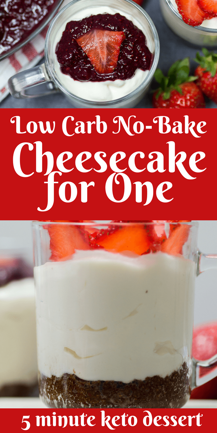 Low Carb No-Bake Cheesecake for One – 5 Minute Keto Dessert