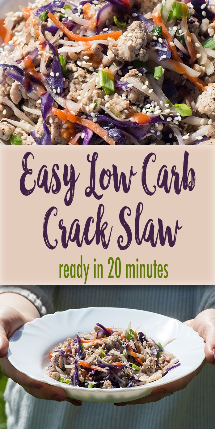 Crack slaw is a quick and easy recipe for a delicious keto dinner that is ready in less than 20 minutes. You will need only a few low carb ingredients. Believe me that once you try the crack slaw recipe, you will want to make it again and everyone will love it.