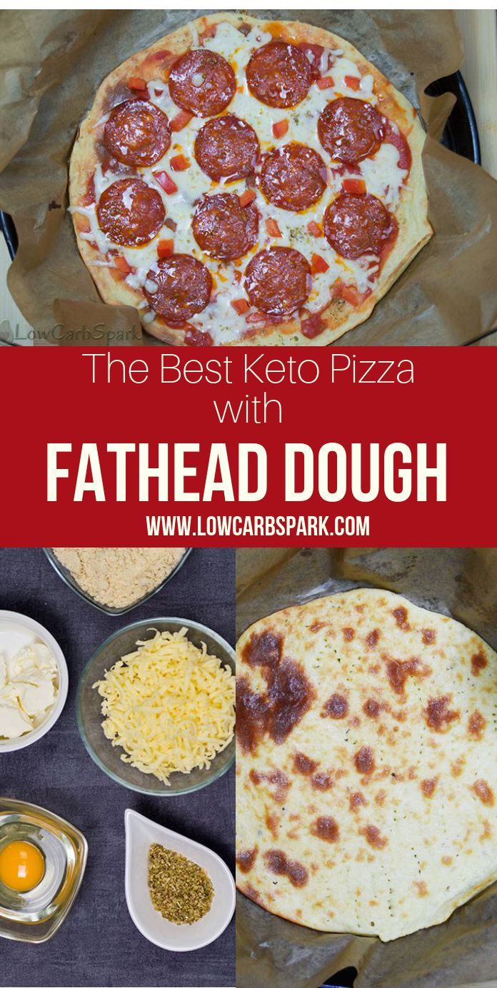Fathead Pizza is a top-rated recipe among the keto community. This keto low carb fathead crust is grain-free, wheat-free and tastes even better than regular pizza crust. The texture is similar, and I'm beyond thrilled to share how to make it with you. Keto pizza with fathead dough is a mouthwatering keto recipe that resembles very much to the real thing but has way fewer carbs. The low carb dough is chewy and delicious.#ketopizza. Recipe via @lowcarbspark