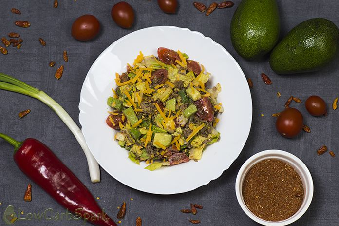 Healthy and Easy Taco Salad - Low Carb, Keto, Gluten-free