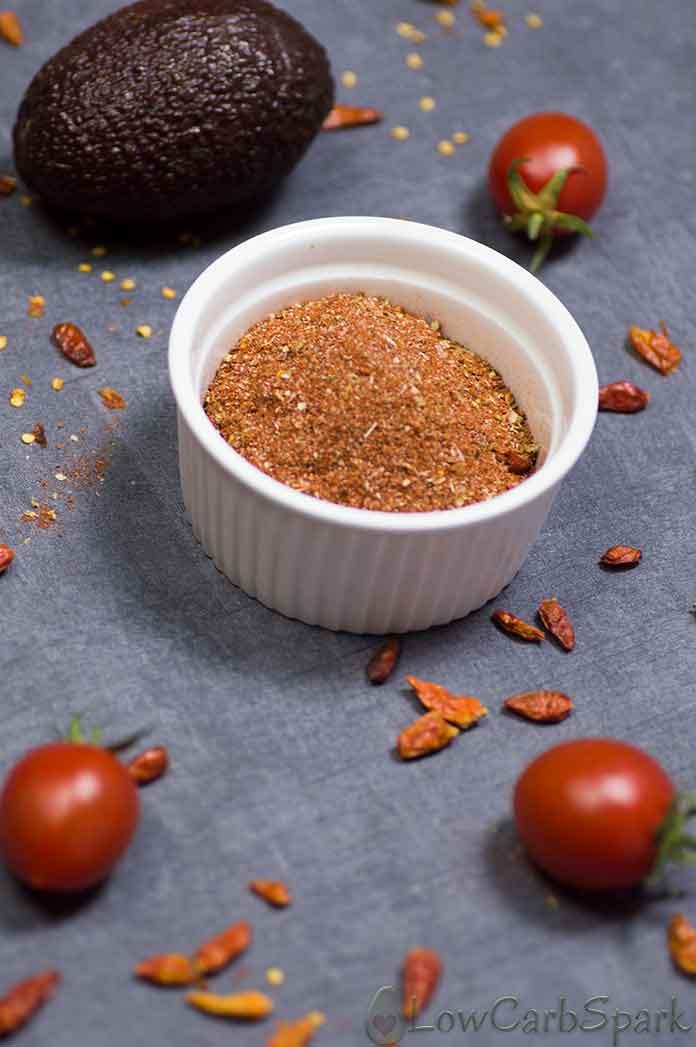 Healthy Keto Taco Seasoning - Sugar-free, Low Carb & Gluten Free
