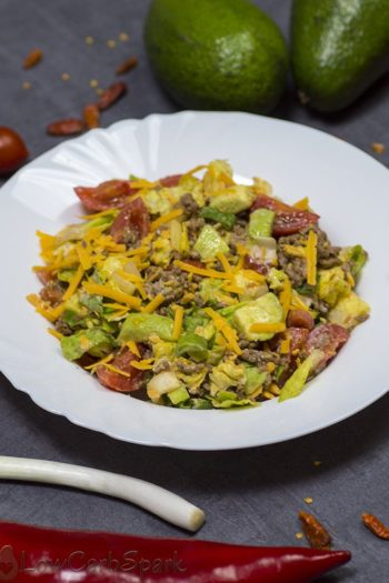 Healthy and Easy Taco Salad – Low Carb, Keto, Gluten-free