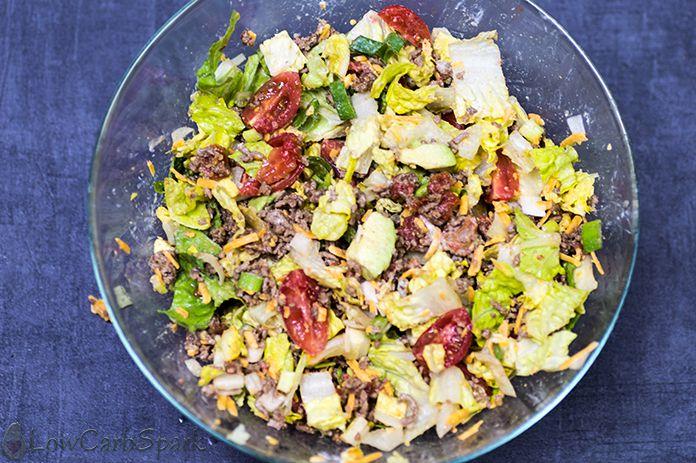 taco salad in a bowl huge