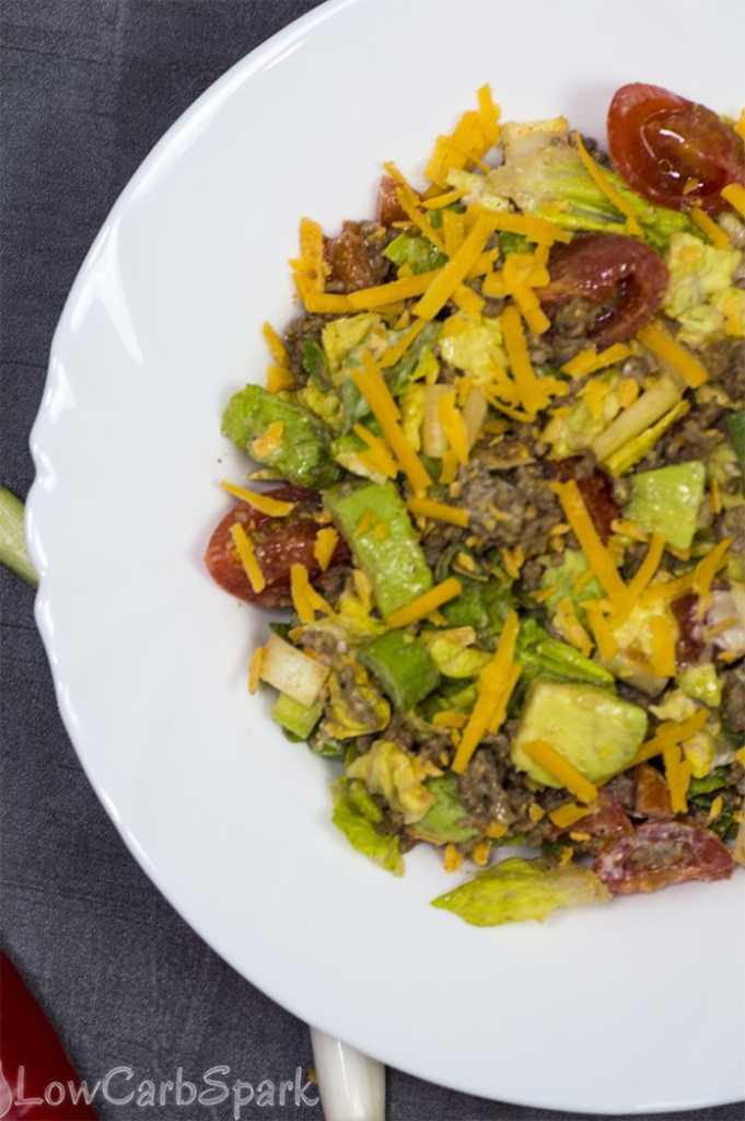 taco salad serving size