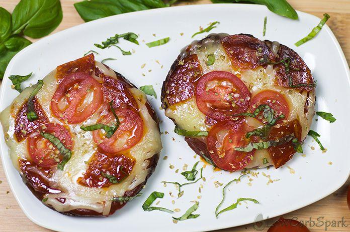 keto pizza portobello mushrooms low in carbs and super healthy