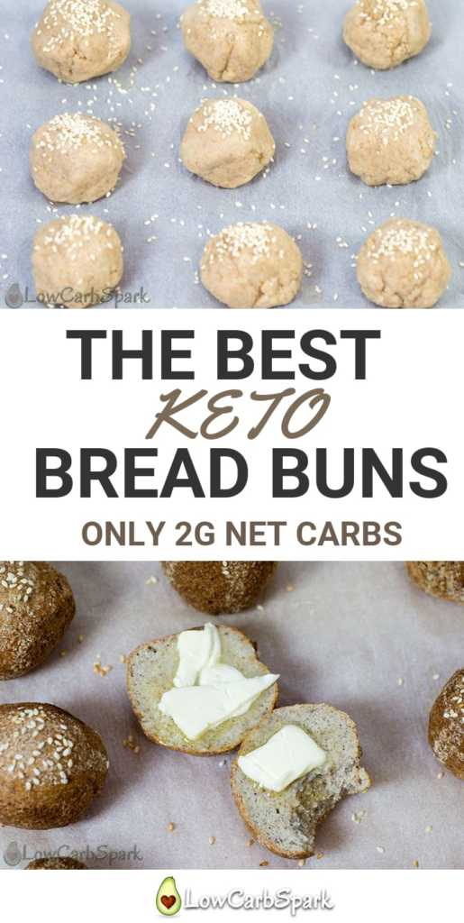 The Best Keto Bread Buns With Almond Flour And Psyllium 2g Net Carbs