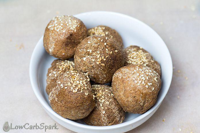 keto bread buns with psyllium powder low carb buns