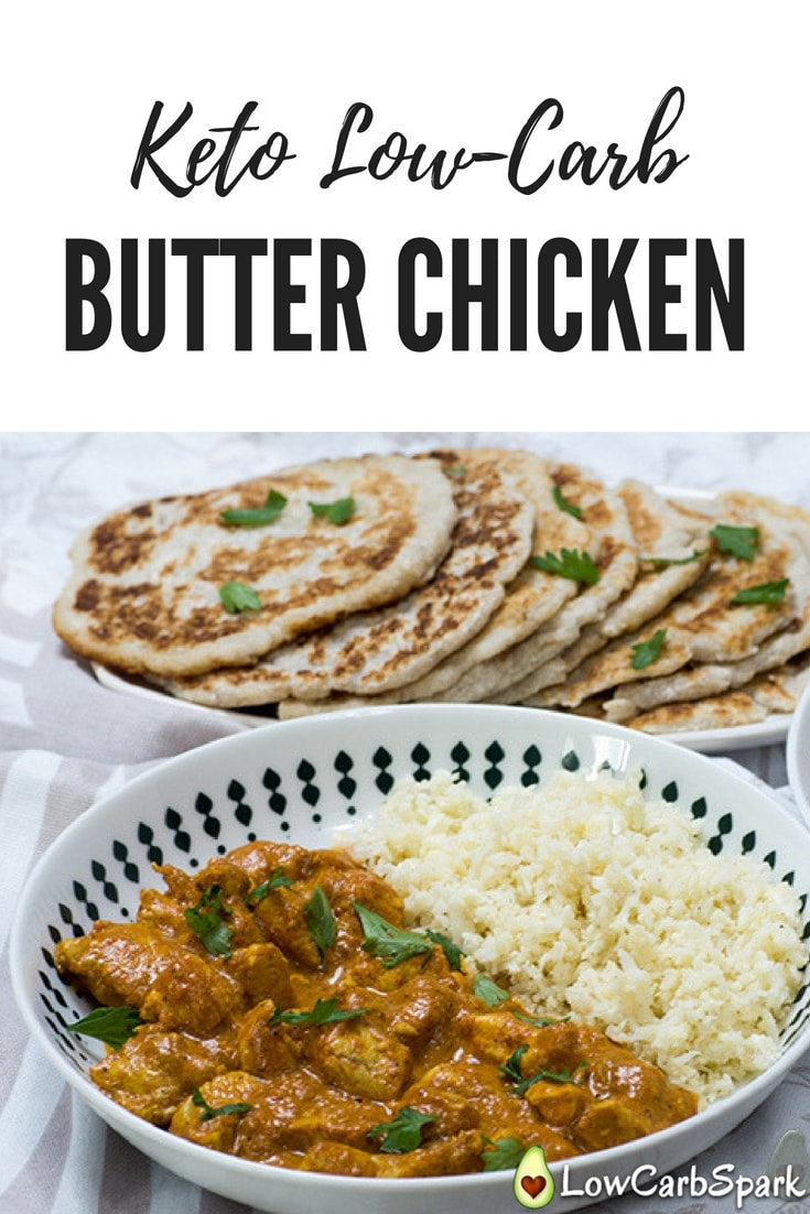 Amazing keto butter chicken recipe that tastes fantastic, it's low-carb and super easy to make. It will definitely impress anyone. #keto #ketosis #ketodiet #ketorecipes #ketobutterchicken #butterchicken